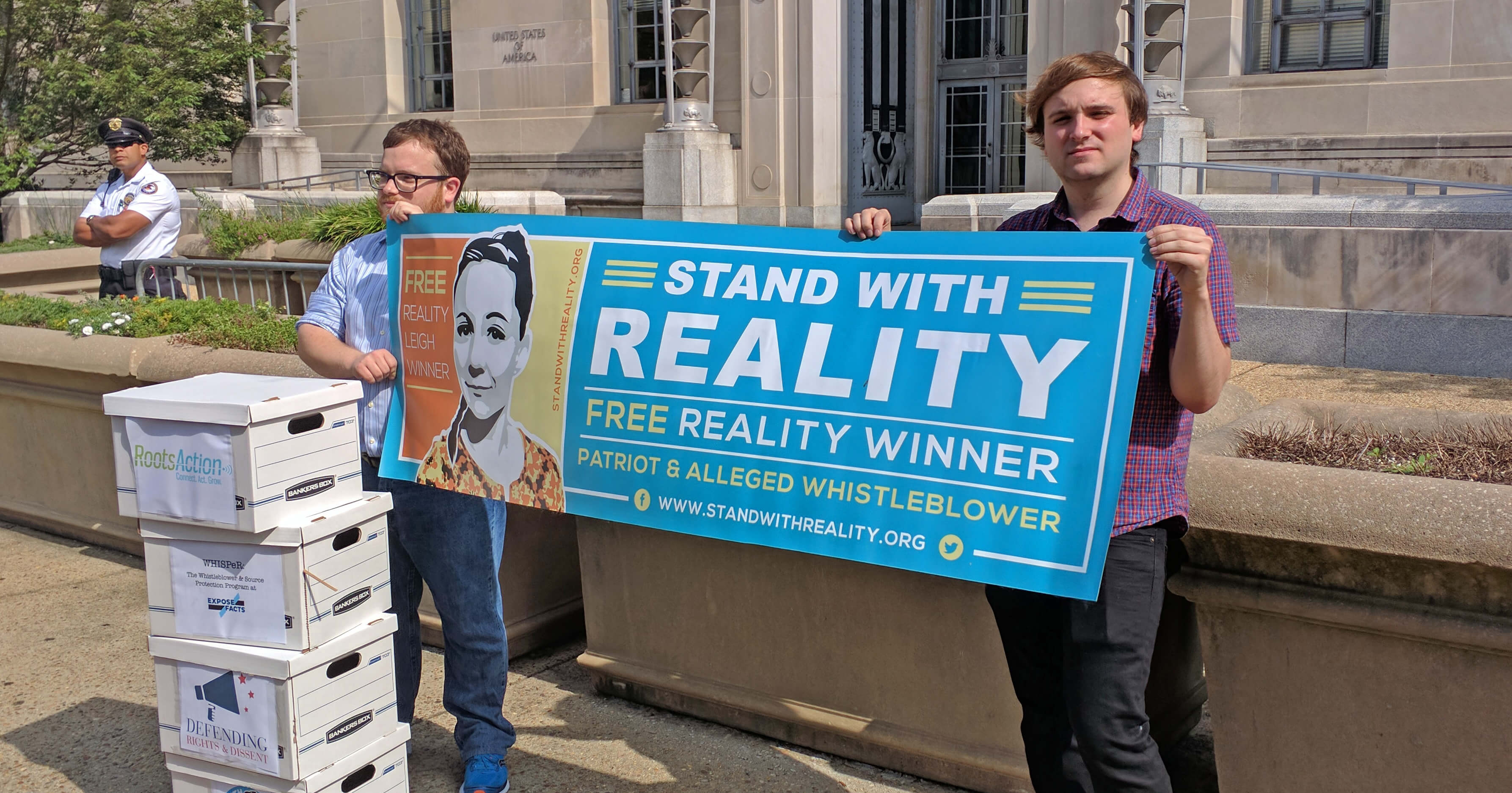 First 16k Petitions to Drop Charges Against Reality Winner Delivered