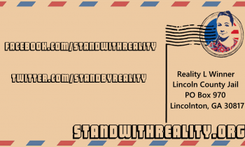 Focused Volunteer Opportunities to Free Reality Winner!